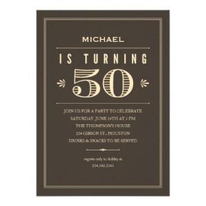 50th Birthday Invitations for Men from Zazzle.com