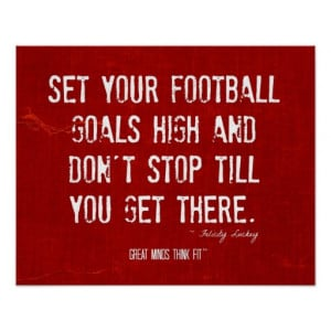 Football Motivational Quote Poster