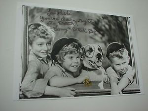 RARE-SIGNED-QUOTE-TOMMY-BUTCH-the-Bully-BOND-Little-Rascals-PHOTO-Our ...