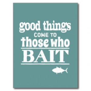 Funny Fishing Quotes Postcards...