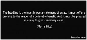 More Morris Hite Quotes