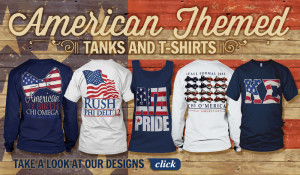 Patriotic T-shirts for Fraternities and Sororities