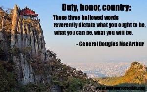 Duty, Honor, Country – General Douglas MacArthur