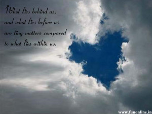 Heart shaped formed between clouds