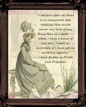 Jane Austen Quote About Reading: Regency Fashion Inspired Photographic ...