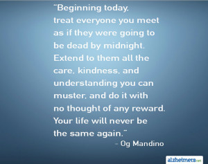 Short Inspirational Quotes Alzheimer's quote: beginning