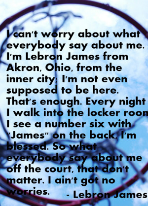 lebron james said the following after winning the nba championship in ...