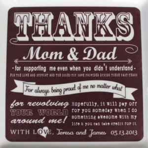 Parent Wedding Gift from Bride & Groom Thank by SayAnythingDesign, USD65 ...