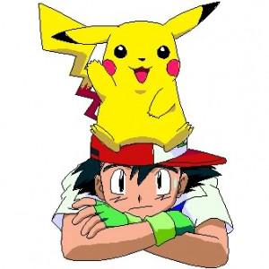 pikachu and ash Image
