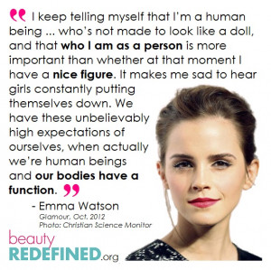 Emma Watson Reminding Us Our Bodies Have a Function