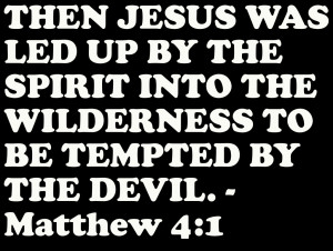 ... Spirit into the Wilderness to be Tempted by the Devil – Bible Quote