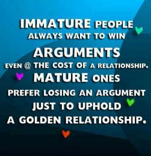 Immature people