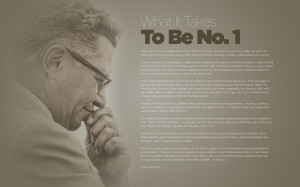 Lombardi's famous quotes, this one about what it takes to be No. 1 ...