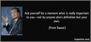 Ask yourself for a moment what is really important to you—not by ...