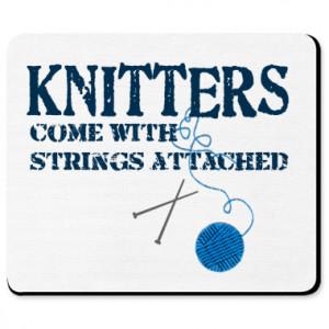 Knitting Strings Mousepad