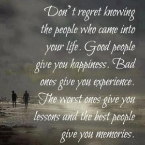 Don't regret knowing people
