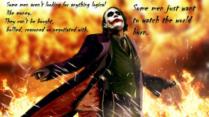 World Burn Joker Quote | Joker Quote HD Wallpaper | Joker Quote ...