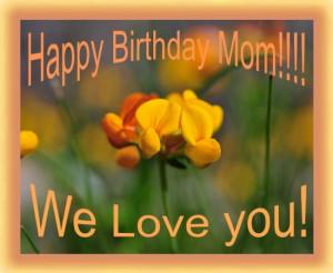 Happy Birthday Mom We Love You Happy birthday mom! we love