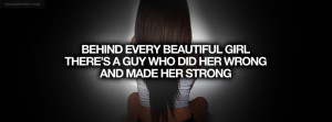 Behind Every Beautiful Girl Quote Picture