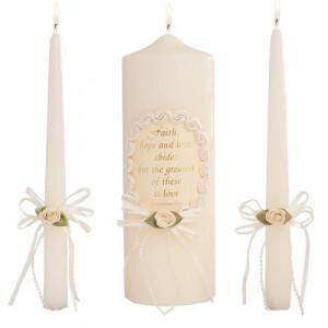 Celebration Candles Wedding Unity Candle Set, 9-inch Pillar Candle ...