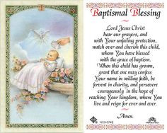 catholic baptism prayer card | Laminated Holy Card - Baptismal ...