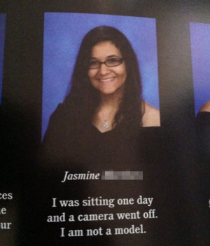 funny yearbook quotes I am not a model
