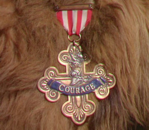 Close up of Medal-Badge - Legion of Courage
