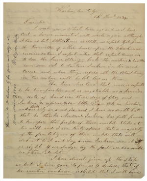 David Crockett to Charles Schultz, December 25, 1834 (Gilder Lehrman ...