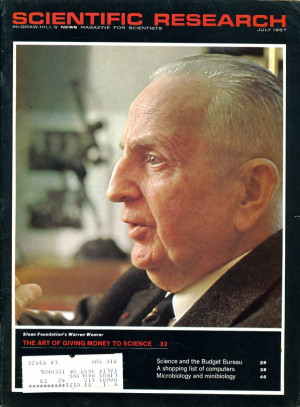 Image of Warren Weaver as published on the cover of Scientific ...