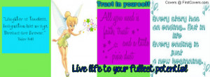 TinkerBell and quotes Profile Facebook Covers