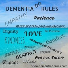 Actions Speak Louder Than Words! In the world of dementia the one who ...
