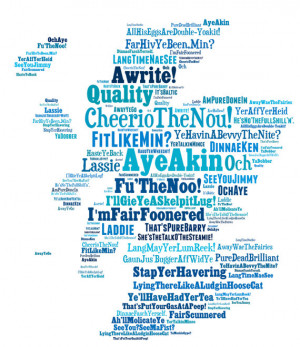 SCOTTISH SAYINGS PRINT- Funny Art Scottish Slang Phrases. Unique ...