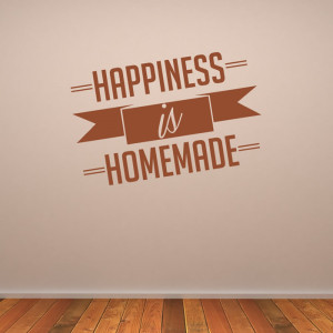 Happiness Is Homemade Family Wall Quote Sticker