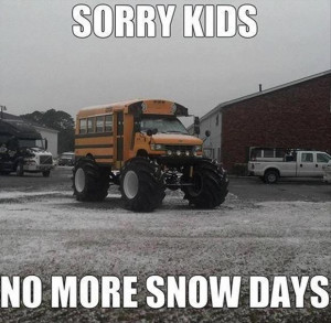 snow days, funny school pictures