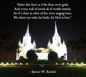Mormon Temples Quotes – LDS Temple Quotes