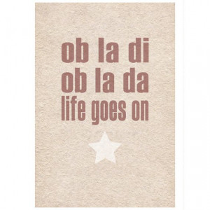 Beatles Lyrics Ob La Di typographic art by wallenvyartdigital, £14.00