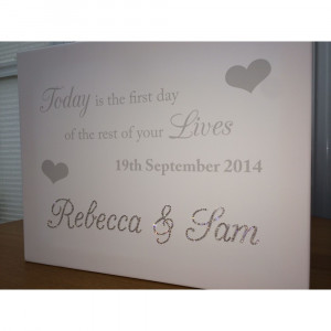 Home » THE FIRST DAY OF THE REST OF OUR LIVES QUOTE CANVAS