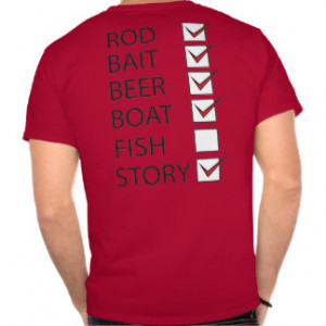 Fishing Check Off List Mens Funny T-shirt Red