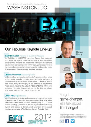 EXIT Realty Announces Keynotes For The 2013 Convention in Washington ...