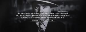 Al Capone Americanism Facebook Cover