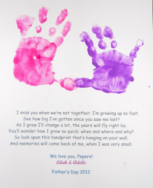 Tuesday's Tot: Father's Day Handprint Poem