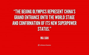 The Beijing Olympics represent China's grand entrance onto the world ...