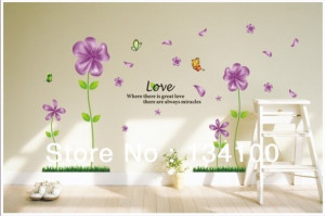 Romantic dream flower with butterfly flying around and English quote ...