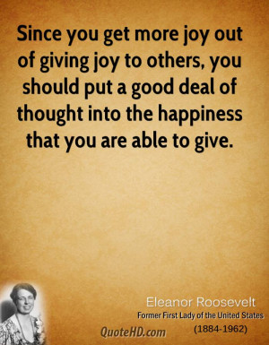 Giving To Others Quotes http://www.quotehd.com/quotes/eleanor ...