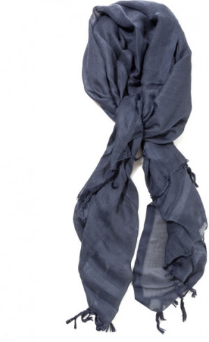 Love Quotes Linen Tassel Scarf in Gray (charcoal)