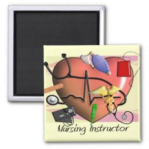 Nursing Instructor Thank You Gifts Refrigerator Magnet