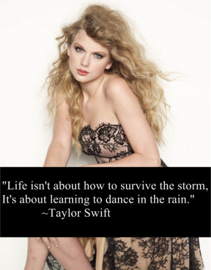 Taylor Swift is a country singer/writer and most of her songs reflect ...