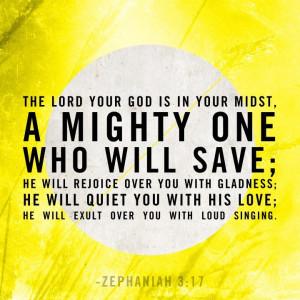 Zep 3:17 He sings over you