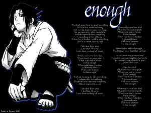 Enough -- Sasuke Uchiha by SabakuNoHeeromai