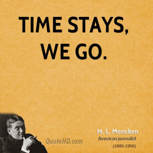 Mencken Time Quotes